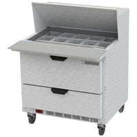 Beverage-Air SPED36HC-15M-2 36 inch 2 Drawer Mega Top Refrigerated Sandwich Prep Table