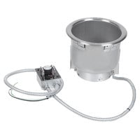 Hatco HWB-7QTD 7 Qt. Single Drop In Round Heated Soup Well with Drain - 240V