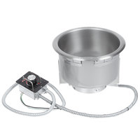 Hatco HWB-11QTD 11 Qt. Single Drop In Round Heated Soup Well with Drain - 240V
