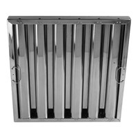 FMP 129-2142 16 inch(H) x 20 inch(W) x 2 inch(T) Stainless Steel Hood Filter - Kleen-Gard