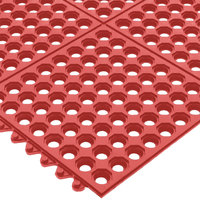 San Jamar KM1240B Red Light Duty Grease Proof Connect-A-Mat 3' x 3'