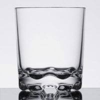 Thunder Group PLTHRG012C 12 oz. Plastic Heavy Base Classic Rocks / Old Fashioned Glass