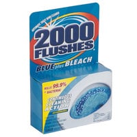2000 Flushes 208017 Blue Plus Bleach Automatic Toilet Bowl Cleaner - 12/Case