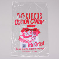 Paragon 7850 12 inch x 18 inch Printed Plastic Cotton Candy Bag   - 1000/Case