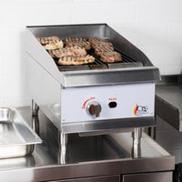 Cooking Performance Group CBR15 15 inch Gas Countertop Radiant Charbroiler - 40,000 BTU