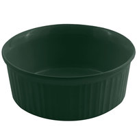 Bon Chef 5054 2.5 Qt. Hunter Green Sandstone Finish Cast Aluminum Round Casserole Dish