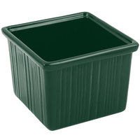 Bon Chef 9503 28 oz. Hunter Green Sandstone Finish Cast Aluminum Space Saver Garnish Bowl