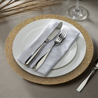 The Jay Companies 1180018 13 inch Round Gold Glitter Plastic Charger Plate