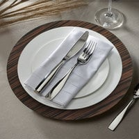 The Jay Companies 1270002 13 inch Round Brown Pine Faux Wood Plastic Charger Plate