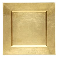 The Jay Companies A81GR-13 13 inch x 13 inch Square Gold Plastic Charger Plate