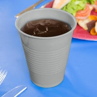 Creative Converting 28106081 16 oz. Shimmering Silver Plastic Cup - 240/Case