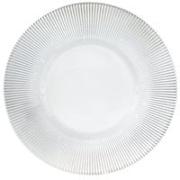 The Jay Companies 1900035 13 inch Round Clear Sunray Glass Charger Plate