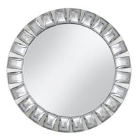 The Jay Companies 1330038 13 inch Round Large Jeweled Glass Mirror Charger Plate