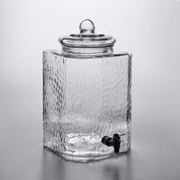 Acopa 5 Gallon Hammered Glass Beverage Dispenser