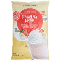 Big Train 3.5 lb. Strawberry Banana Blended Creme Frappe Mix