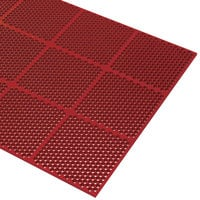 Cactus Mat 2535-R23 Honeycomb 2' x 3' Red Grease-Resistant Anti-Fatigue Rubber Mat - 9/16 inch Thick