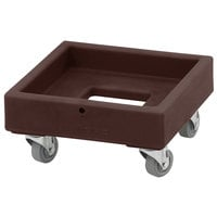 Cambro CD1313131 250 lb. Dark Brown Camdolly Milk Crate Dolly