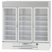 Beverage-Air MMR72HC-1-W MarketMax 75 inch White Refrigerated Glass Door Merchandiser with LED Lighting