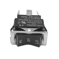All Points 42-1277 High/Off/Low Rocker Switch - 10A/250V, 15A/125V