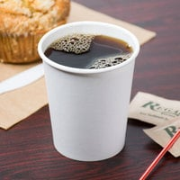 Choice 8 oz. White Poly Paper Hot Cup - 1000/Case