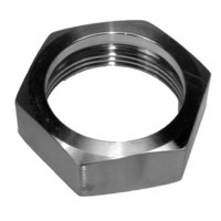 All Points 26-1127 Stainless Steel Hex Nut for 1 1/2 inch Draw-Off Valve Body