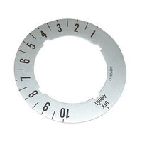 All Points 22-1397 Knob/Dial Insert; Off, 1-10