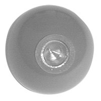 All Points 22-1515 1 5/8 inch Red Fryer Ball Knob
