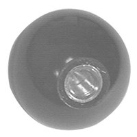 All Points 22-1517 1 5/8 inch Black Fryer Ball Knob