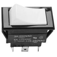 All Points 42-1306 Monentary On/Off/Momentary On Rocker Switch - 15A/125V, 10A/250V