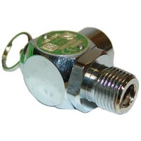 All Points 56-1338 30 PSI Chrome Steam Safety Relief Valve - 1/2 inch NPT