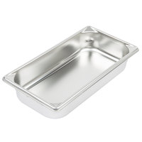 Vollrath 30322 Super Pan V® 1/3 Size 2 1/2 inch Deep Anti-Jam Stainless Steel Steam Table / Hotel Pan - 22 Gauge