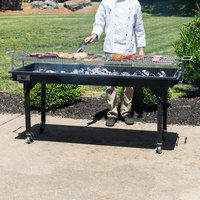 Backyard Pro CHAR-60 60 inch Heavy-Duty Steel Charcoal Grill with Adjustable Grates, Removable Legs, and Cover