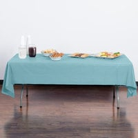 Creative Converting 13025 54 inch x 108 inch Pastel Blue Disposable Plastic Table Cover - 12/Case
