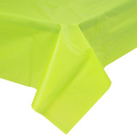 Creative Converting 723123B 54 inch x 108 inch Fresh Lime Green Disposable Plastic Table Cover - 24/Case