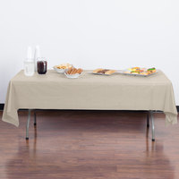 Creative Converting 01489B 54 inch x 108 inch Ivory Disposable Plastic Table Cover - 24/Case