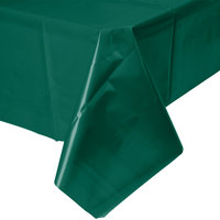 Creative Converting 723124 54 inch x 108 inch Hunter Green Disposable Plastic Table Cover - 12/Case