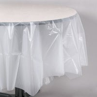 Creative Converting 700418 82 inch Clear OctyRound Plastic Table Cover - 12/Case