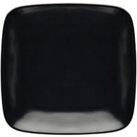 Elite Global Solutions D11SQR Radius 11 3/8 inch Black Rounded Edge Square Plate - 6/Case