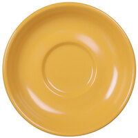 Elite Global Solutions DS Rio Yellow 5 5/8 inch Round Melamine Coffee Saucer - 6/Case