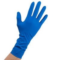 High Risk Latex Exam Gloves 15 Mil Extra Large - Blue - Case of 500 (10 Boxes of 50)