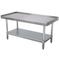 Advance Tabco EG-LG-3015 Stainless Steel Equipment Stand with Galvanized Legs and Adjustable Undershelf - 30 inch x 15 inch