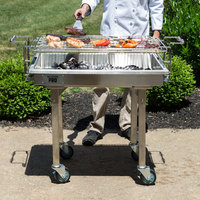 Backyard Pro CHAR-30SS 30 inch Heavy-Duty Stainless Steel Charcoal Grill with Adjustable Grates, Removable Legs, and Cover