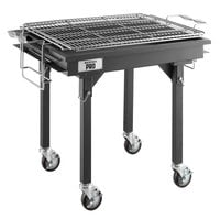 Backyard Pro CHAR-30 30 inch Heavy-Duty Steel Charcoal Grill with Adjustable Grates, Removable Legs, and Cover