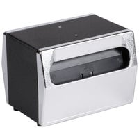Vollrath 6516-06 Two Sided Tabletop Fullfold Napkin Dispenser with Chrome Faceplate - Black