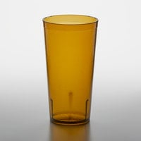 GET 6620-1-A 20 oz. Amber Customizable SAN Plastic Pebbled Tumbler - 72/Case