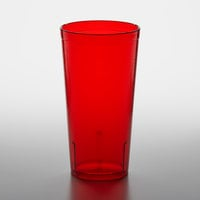 GET 6620-1-R 20 oz. Red Customizable SAN Plastic Pebbled Tumbler - 72/Case
