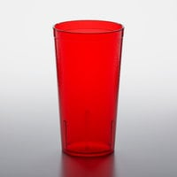GET 6616-1-R 16 oz. Red Customizable SAN Plastic Pebbled Tumbler - 72/Case