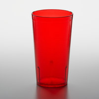 GET 6612-1-R 12 oz. Red Customizable SAN Plastic Pebbled Tumbler - 72/Case