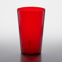 GET 5032-1-R 32 oz. Red Customizable SAN Plastic Pebbled Tumbler - 48/Case