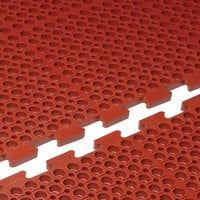Cactus Mat 4420-RE VIP Duralok 3' x 5' Red End Interlocking Grease-Resistant Anti-Fatigue Anti-Slip Floor Mat - 3/4 inch Thick